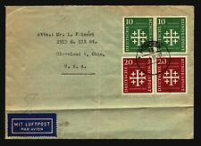 Germany 1950s Cover to Usa / Folds / Better Values - Z16495