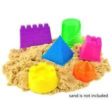 6pcs/set Portable Castle Sand Clay Mold Building Pyramid Baby Kids Toys Bea X1I3