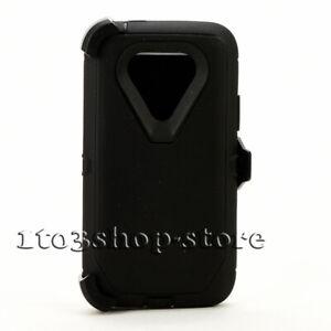 For LG G5 Defender Shockproof Hard Shell Case Cover w/Holster Belt Clip - Black