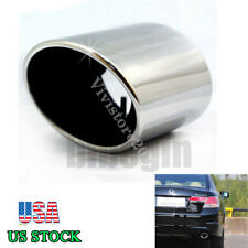 Chrome Stainless Steel Exhaust Muffler Tip Tail Pipe For 2008-2012 Honda Accord