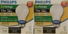 4 Philips EcoVantage 72-Watt (100-Watt Equivalent) A19 Dimmable Light Bulbs