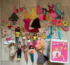 Vintage 1966 Barbie Ken Doll Lot of 10 With Case And Accessories And Clothes 70s
