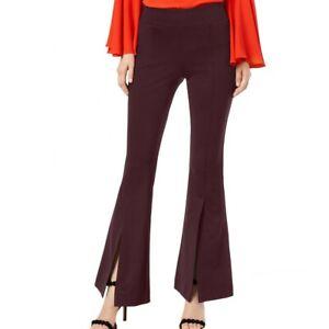 INC NEW Women's Regular Mid Rise Split Hem Pull On Flare Pants TEDO