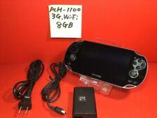 8GB memory Sony PS vita 3G Wi-Fi black PCH-1100 charger adapter DHL fast ship