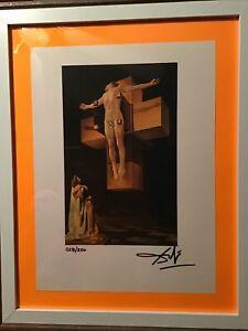 Salvador Dali Original Hand Signed Lithograph with COA, New Frame