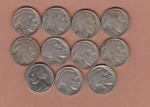 11 USA FIVE CENTS COINS 1914 TO 1994P IN FINE TO NEAR MINT CONDITION.