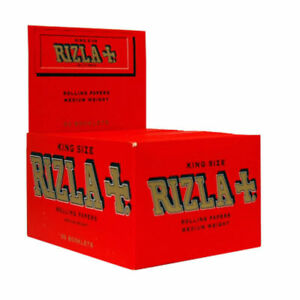 NEW RIZLA RED 50 BOOKLETS CIGARETTE ROLLING PAPERS KING SIZE GENUINE OLD PACK