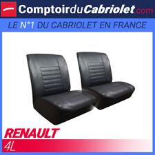 Garnitures sièges avant pour Renault 4L en simili cuir noir