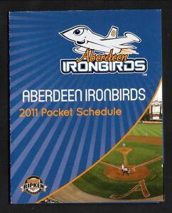 Aberdeen IronBirds--2011 Pocket Schedule--Harford Community College--Orioles