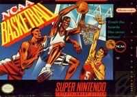 Ncaa Basketball- SNES Super Nintendo Game