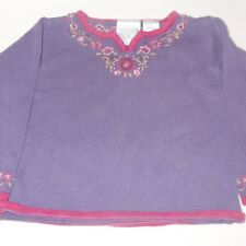Sweater Purple Size 3T Long Sleeve Flowers Floral