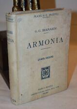 Bernardi Bossi ARMONIA Manuali Hoepli 1920 Musica Partitura Basso Modulazione