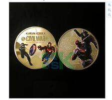 Captain America Coin Civil War Iron Man coin Chris Evans
