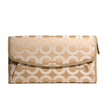 NWT COACH F50251 MADISON CHECKBOOK WALLET IN OP ART SATEEN FABRIC