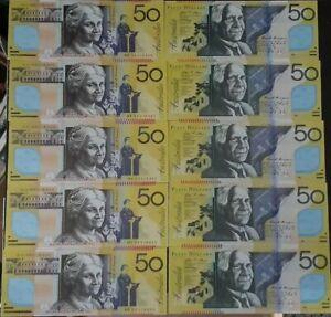 30 $50 Australian Notes Joss