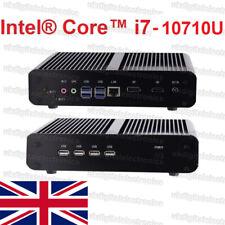 Silent Fanless Quiet Mini PC HTPC Desktop Computer Intel i7 10710U 32G/1T, UK