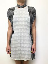 SASS & BIDE black white print silk tunic dress sleeveless sz 10
