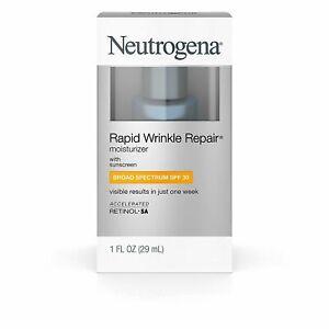 Neutrogena Rapid Wrinkle Repair Moisturizer, SPF 30 1 fl oz 08/2022