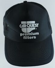Car Quest Premium Filters Mesh Trucker Adjustable Snapback Cap Hat Black VTG