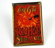 COCA-COLA COKE EE.UU. Solapa Pin PIN BADGE Broche - Rojo Hot Summer