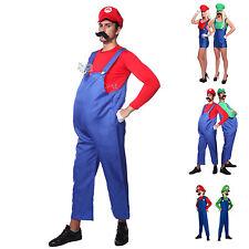 SUPER MARIO COSTUME artigiani IDRAULICO Outfit Costume Carnevale Supermario Bros