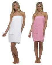 Ladies Cotton Towelling Shower Wrap / Bathrobe / Gown / Spa / Robe