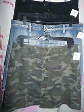"""FADED GLORY"" DESIGNER Womens Denim Skirt 4 Variations Available BRAND NEW"