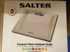 Salter Compact Glass Body Analyser Scale Silver With 8 User Memories