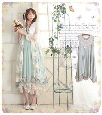 Japanese Mori Girls Lolita Loose Vintage Sweet Cool Princess Sleeveless Dress #