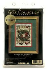 Dimensions Gold Collection Petites Cross Stitch Kit Inviting Holiday Wreath 8655