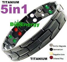 TITANIUM Magnetic Energy Armband Power Bracelet Bio GERMANIUM 5in1 Magnet 5487