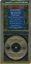 Handel: The Messiah Highlights (1972) - English Chamber Orchestra - New 1987 CD!