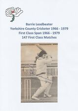 BARRIE LEADBEATER YORKSHIRE COUNTY CRICKETER ORIGINAL AUTOGRAPH MAGAZINE PICTURE