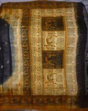Single One of its kind Vintage 100% Pure Silk Fabric Indian Sari Saree