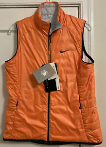 NWT Nike Golf Logo 'Thermore' Filled Reversible Thermal Puff Vest Women's Sz L!