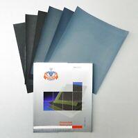 "Matador Abrasive Wet or Dry Waterproof Sandpaper 5 Sheets 800 Grit 9""x11"" S/C"