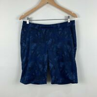 Uniqlo Mens Shorts Size Large Navy Blue Side Pockets Drawstring Elastic Waist