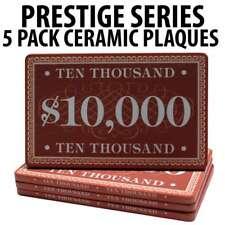 Prestige Series Ceramic Poker Chip Plaques $10,000  Pack of 5