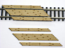 N Scale ~ LASER CUT CUSTOM Double Lane Timber Left Angled Grade Crossing 2 Pack