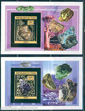 CHAD 2013 MINERALS SET OF TWO DELUXE SOUVENIR SHEET MINT NEVER HINGED IMPERF