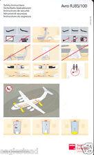 Safety Card - Swiss European -  RJ 85 100 - 2005 (S1128)
