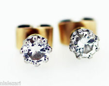 .50ct Diamond stud earrings  F color Vs1 clarity natural 14k yellow gold