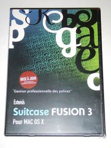 Extensis ~ Suitcase FUSION 3 Upgrade for MAC OS X ~ FRENCH ~ NEW