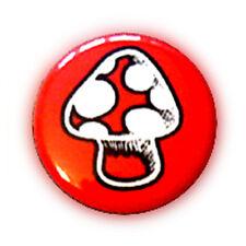 Badge Petit CHAMPIGNON ROUGE mushroom hippie baba cool rock punk button Ø25mm