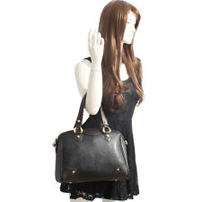 Black & Brown Italian Leather Handbag, Purse Hobo Bag, Satchel, Tote, Clutch