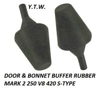 JAGUAR DAIMLER DOOR & BONNET BUFFER RUBBER MARK 2 250 V8 420 S-TYPE BD4951 X 2