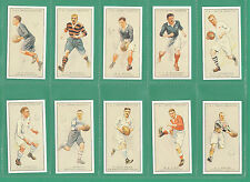 RUGBY - 100  SETS  OF 25 SMITH ' PROMINENT  RUGBY  PLAYERS ' CARDS - REPRINTS