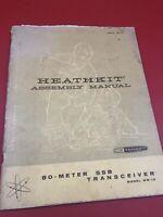Original HEATHKIT HW-12 SSB 80-Meter Ham Radio Transceiver Assembly Manual