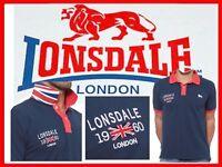 LONSDALE UK  Polo Hombre M ó XL  ¡Aquí Por Menos!   LO01 N1P