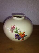 Fürstenberg Porzellan Vase mit Goldrand  Form 1045/000 Dekor 01229